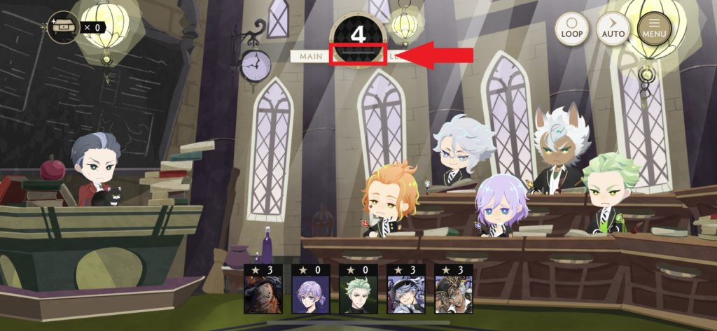 ツイステの魔法史の画面
